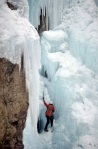 Chad Jukes solos the Scottich Gully in the Ouray Ice Park in Ouray, Colo., on Feb. 18, 2010.