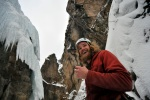 Chad Jukes in the Ouray Ice Park in Ouray, Colo., on March 10, 2010.